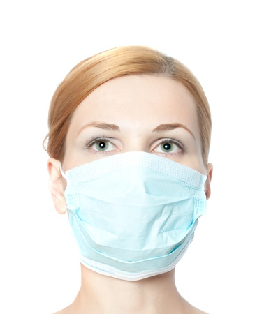 female doctor wearing surgical  mask Stock Photo - 8864570
