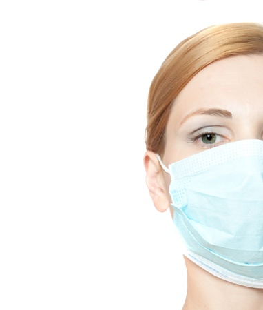 surgeon mask: female doctor wearing surgical  mask