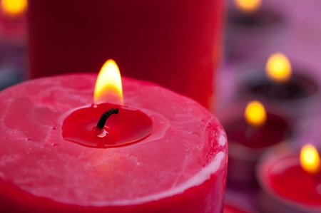 candles on a blurred background photo