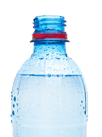 Bottles of water isolated on the white photo