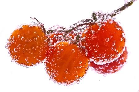Frucht in reinem Wasser. Splash