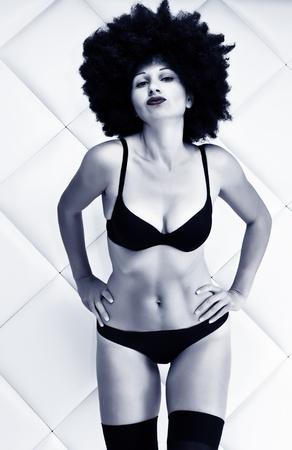 Fashion art photo. The beautiful young woman. Retro styled photo photo