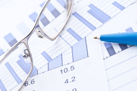Business background, financial data concept Stock Photo - 10835029
