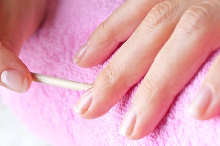 manicre treatment at the wellness salon  Stock Photo - 10835072