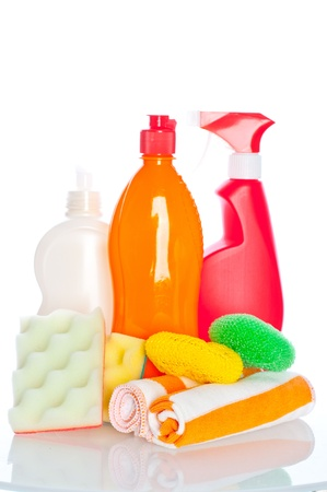 Collection of hygiene cleaners for housework Stock Photo - 10834999