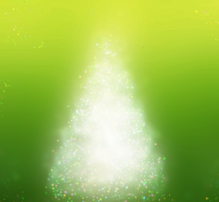 Abstract Christmas tree photo