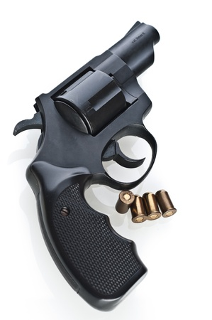 Revolver on a white background photo