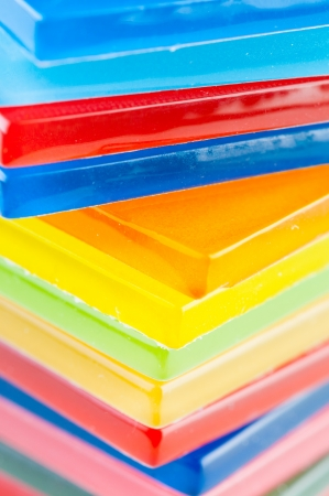 colored glass tiles photo