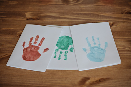 post cards: bambini Handprints cartoline