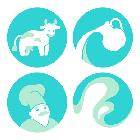 milkman: set of milk icons