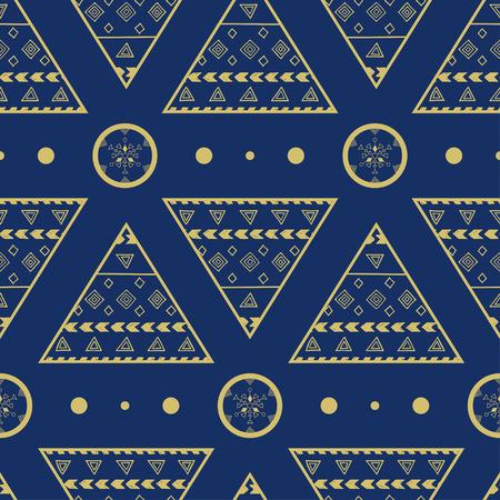 wigwam: ornamental seamless pattern