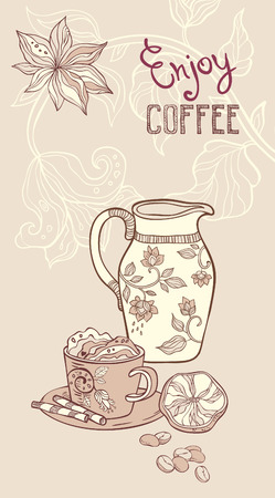 still life food: Coffee. vector background