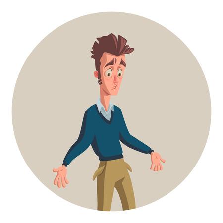 jonge man zonder geld Vector Illustratie