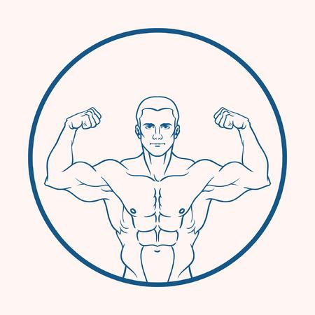 muscular: muscular man Illustration
