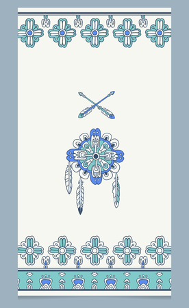 ornamental elements: vector background with tribal american indian ornamental elements