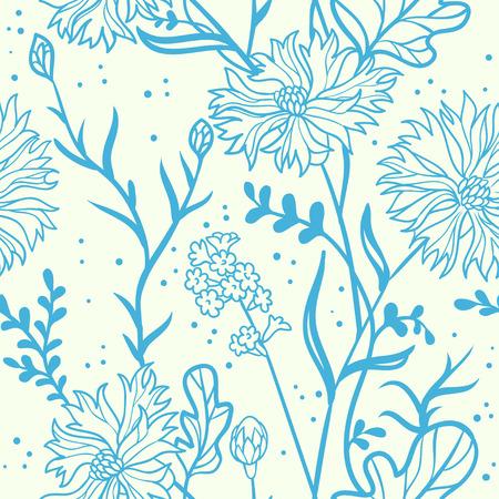 cornflowers. seamless pattern