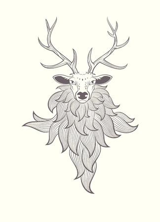 graphic illustration: Deer. graphic illustration