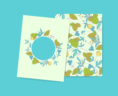 buttercup  decorative: Forest herbs cards template