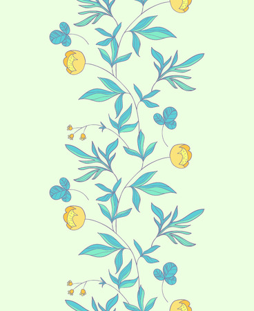 buttercup  decorative: Buttercup floral seamless border