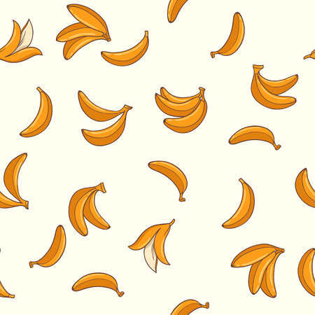 resilient: bananas. seamless pattern with hand drawn bananas Illustration