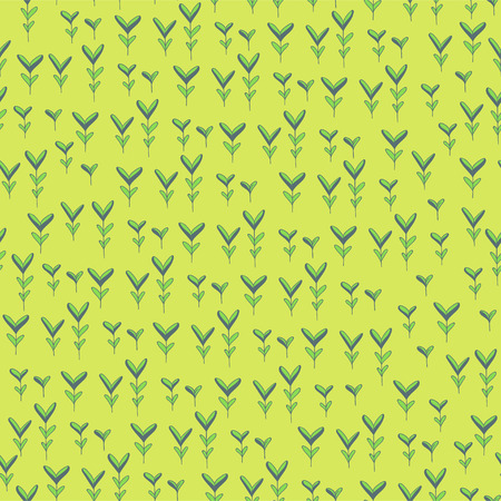 Spring seamless texture. Vector hand drawn herbs. Doodle style floral pattern Ilustrace