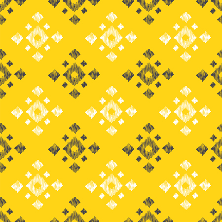 Tribal indian american seamless pattern. Vector hand drawn aztec geometrical ornaments. Ethnic texture with mexican motifs.