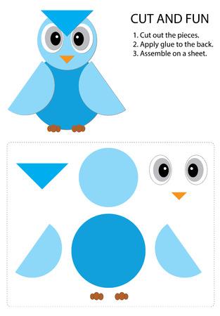 piece: blue owl cut piece