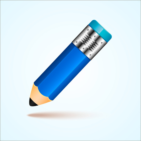 Vector illustration simple pencil with eraser
