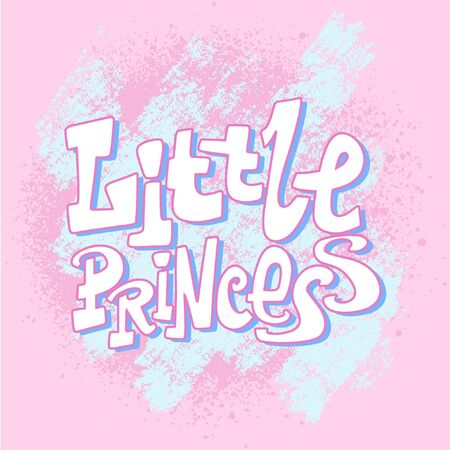 Handwritten style font Little Princess , text card, poster, t-shirt lettering print