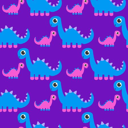 Seamless Pattern of cute Dinosaur