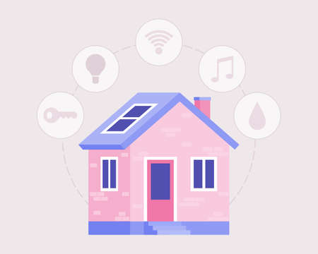 Smart house concept. Vector illustration in a flat style Illustration