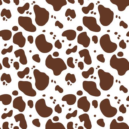 Naadloze hand getekende patroon met koe bont. Het herhalen van koe huid achtergrond voor textiel design, scrapbooking, inpakpapier, walpaper. Abstracte eindeloze animal print.