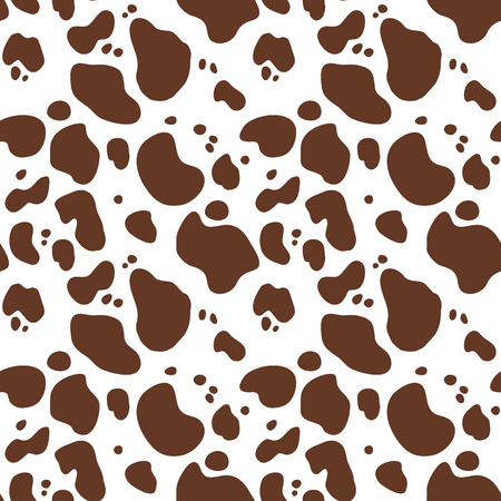 Seamless hand drawn pattern with cow fur