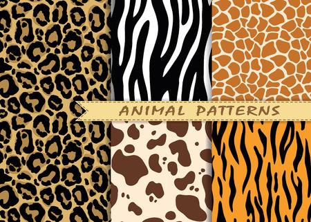 patrones de costura se establece con la textura de la piel de los animales