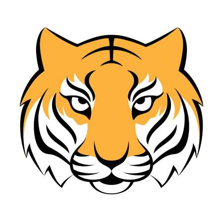 Tiger icon. Illustration