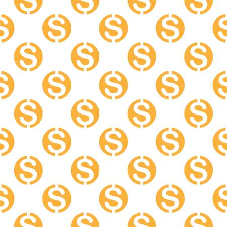 paper currency: Seamless pattern with dollar sign. Repeating currency symbol background for textile design, wrapping paper, scrapbooking etc.