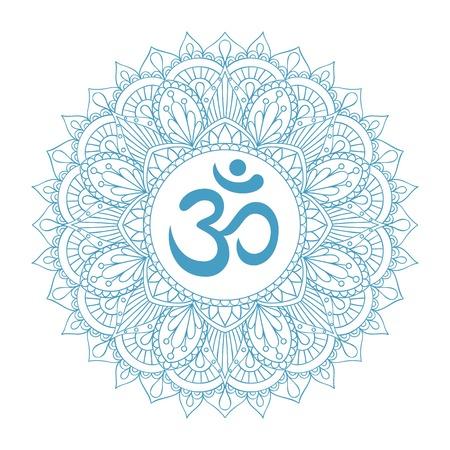 Aum Om Ohm Symbool Hindoesme Boeddhisme Symbool Royalty Vrije