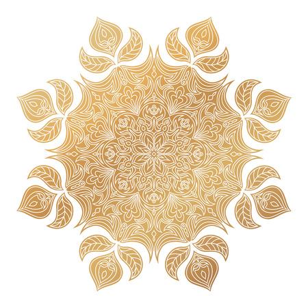 A Vintage decorative elements. Oriental round pattern.