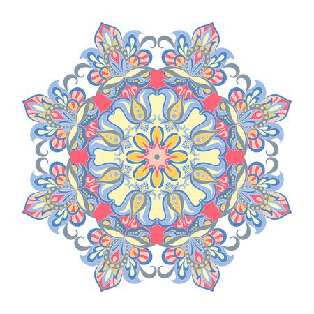 A Vector Mandala ornament. Vintage decorative elements. Oriental round pattern.ound.
