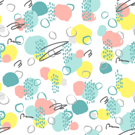 Creative seamless pattern. Artistic repeating background with abstract hand drawn shapes. Design for textile, wallpaper, poster, card, invitation, scrapbook, header, cover, brochure, flyer.