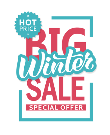 Winter sale banner design template for flyer, invitation, poster, web site. Special offer, seasonal sale advertisment.  イラスト・ベクター素材