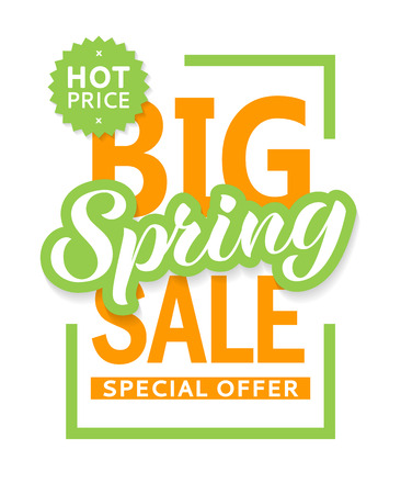 Spring sale banner design template for flyer, invitation, poster, web site. Special offer, seasonal sale advertisment.