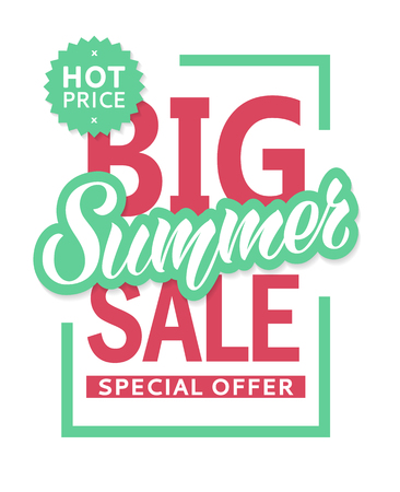 Summer sale banner design template for flyer, invitation, poster, web site. Special offer, seasonal sale advertisment.
