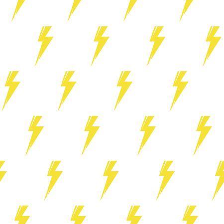Thunder bolt seamless pattern. Flash symbol abstract abstract background for wallpaper, cover fills, web page background, surface textures, textile print. Vector repeating lightning backdrop.  イラスト・ベクター素材