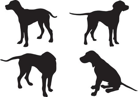 Silhouet van een hond (aanwijzer)