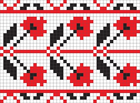 lappet: Ethnic Ukrainian ornamental pattern #4