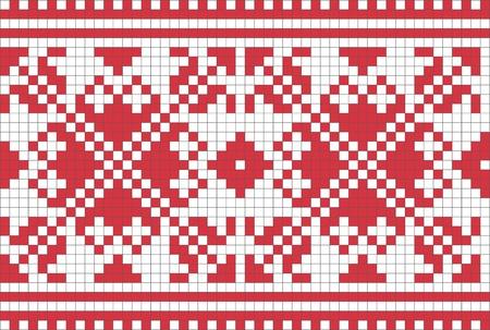 punto cruz: Patr�n ornamental ucraniano �tnico # 6 Vectores