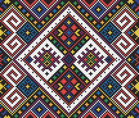 Ukrainian ethnic seamless ornament, #10, vector