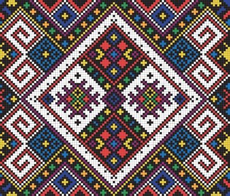 kelet európa: Ukrainian ethnic seamless ornament, #10, vector