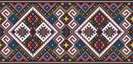 Ukrainian ethnic seamless ornament, #11, vector